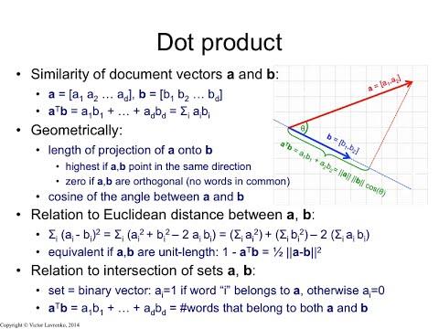 IR3.4 Dot product and Euclidean distance