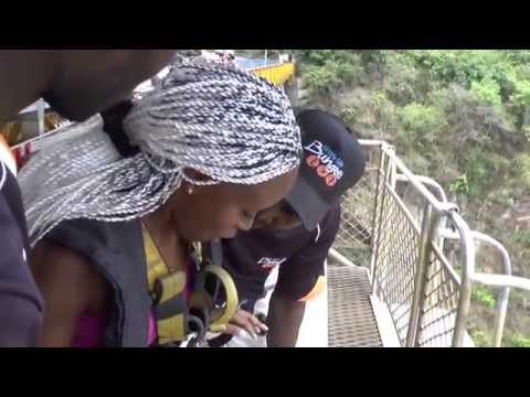 Bungee jumping Livingstone, Zambia, Africa