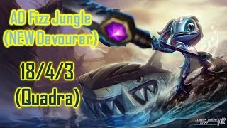 How To Meta #15 - AD Fizz Jungle (NEW DEVOURER) 18/4/3 QUADRA!