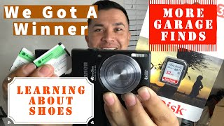 YouTube Giveaway Canon Camera Winner / More Garage Finds / Learning About Shoe Sizes
