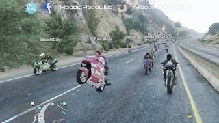 Grand Theft Auto V Online (XB1)   Street Bike Meet Pt.1   Road Trip, City Cruise, Cop Chases & More