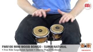 FWB100 Mini Wood Bongo - Super Natural - FWB100SNT-M
