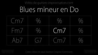 Blues en Do mineur (90 bpm) : Backing track (The Thrill is Gone)