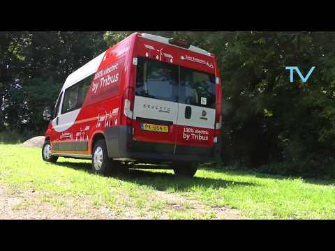 De elektrische taxibus van Tribus