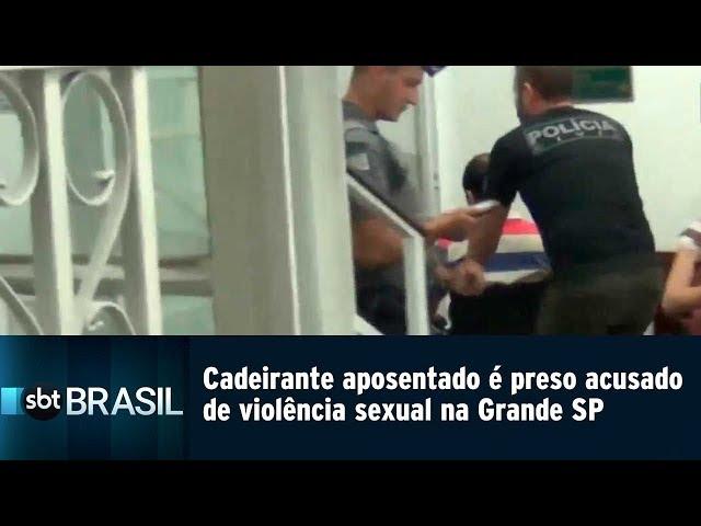 Cadeirante aposentado é preso acusado de violência sexual na Grande SP | SBT Brasil (07/03/19)