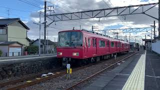 尾西線120周年系統板!名鉄6800系6827F森上駅発車