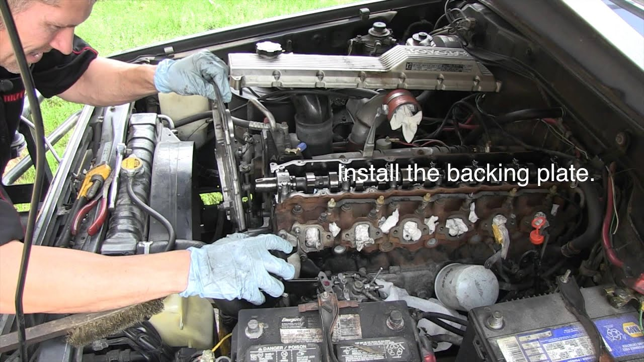 Toyota    Waterpump and Timing belt replacement Tutorial  HZJ