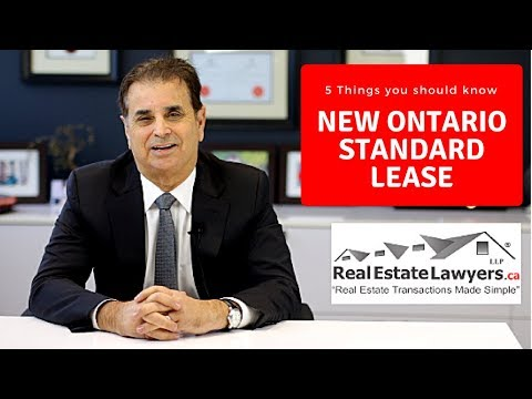 5 Things to Know about the Govt Standard Lease Form