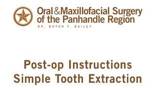 dental extraction post op instructions