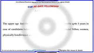 CSIR JRF GATE/GPAT PHD Fellowship
