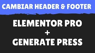 Recreating generatepress page headers with elements 2018