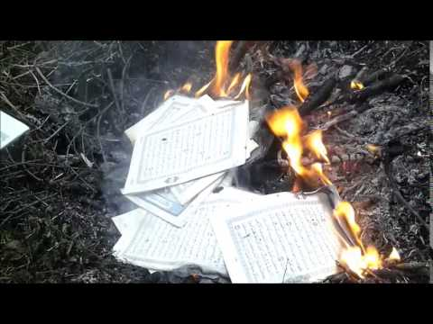 Burning Quran in support of the innocent girl who was killed in Kabul (Farkhondeh)