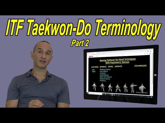 ITF Taekwon-Do Terminology - Part 2