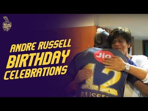 Andre Russell's Birthday Celebration | #IPL2019