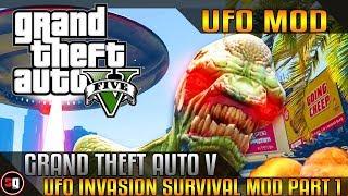 Grand Theft Auto V UFO & Alien Invasion Survival Mod - Part 1