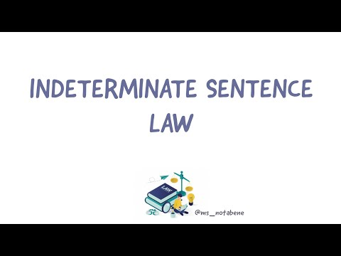Indeterminate Sentence Law | Criminal Law | Law School Philippines