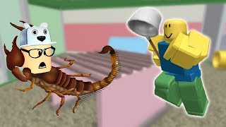 ROBLOX: THE OLD MAN TURNED INTO A SCORPION AND FLED THE HUNTERS! (Pet Escape)