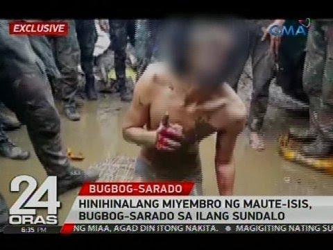 Exclusive: Hinihinalang miyembro ng MauteISIS, bugbogsarado sa ilang sundalo