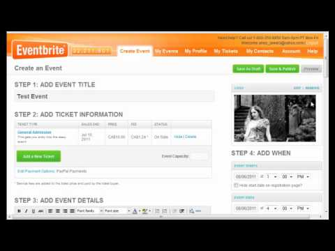 How To Sell Tickets To Your Show: A Great Online Tool! - Youtube