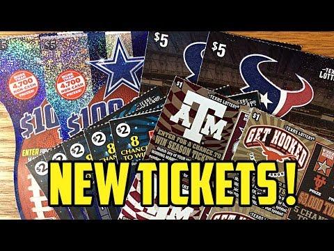 New Tickets! University of Texas + Texas A&M University Texas Lottery Scratch Off Tickets