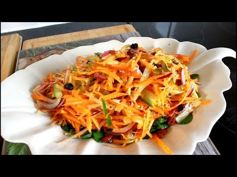 How To Make Carrot And Apple Salad Recipe !!  Chef Ricardo Juice Bar