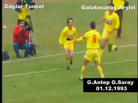 1993 1994 Gaziantepspor Galatasaray 3-4 Unutulmaz Maç