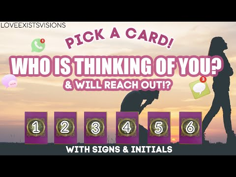 ⚡️WHO IS THINKING OF YOU RIGHT NOW &WILL REACH OUT *PICK A CARD*VERY DETAILED & ACCURATE!! +INITIALS