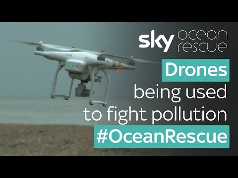 Drones used in fight against plastic pollution on UK beaches