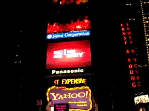 New York City, Times Square at night time.