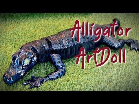 Posable Realistic Alligator || ArtDoll Tutorials