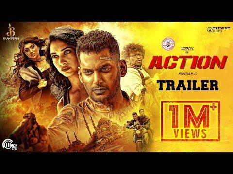 Action Telugu Trailer | Vishal, Tamannaah | Hiphop Tamizha | Sundar.C