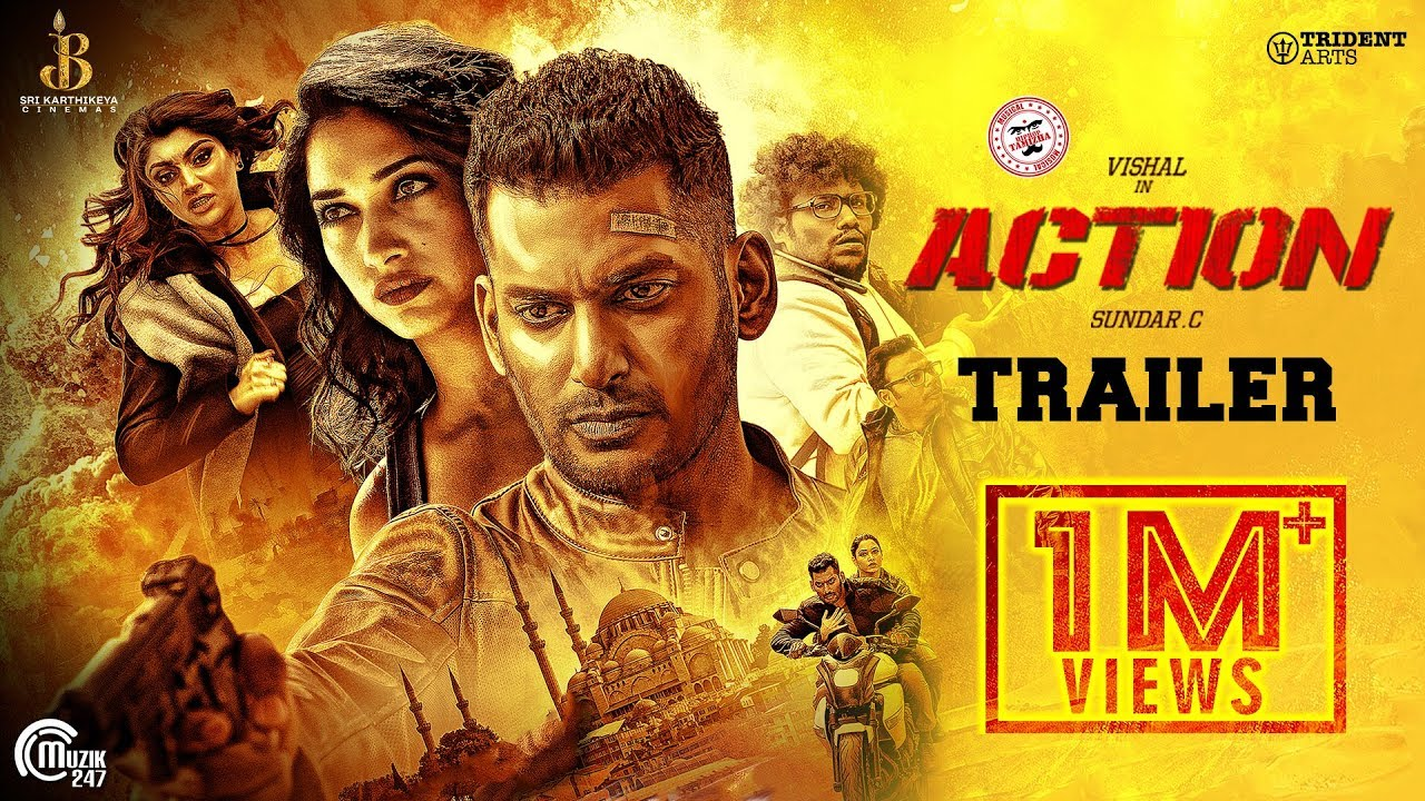 Action Telugu Trailer | Vishal, Tamannaah | Hiphop Tamizha | Sundar.C | Official
