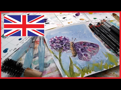 Unboxing Britsh Art Supplies from The Spin Doctor
