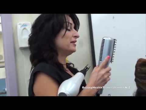 How 2 Blow Dry Curly Hair and Flat Iron Class: Beginner