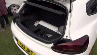 Fitted UK VAG Show VW Scirocco  Wetherby Racecourse 2015