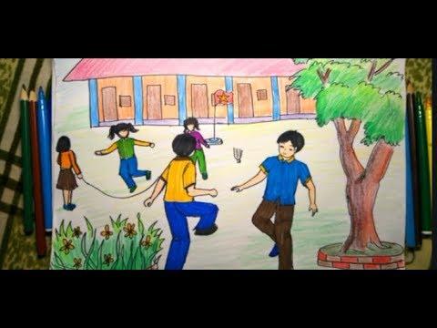 VẼ CHỦ ĐỀ ,TRANH ĐỀ TÀI HOẠT ĐỘNG TRƯỜNG EM ,TRƯỜNG EM-PICTURES OF SCHOOL ACTIVITIES