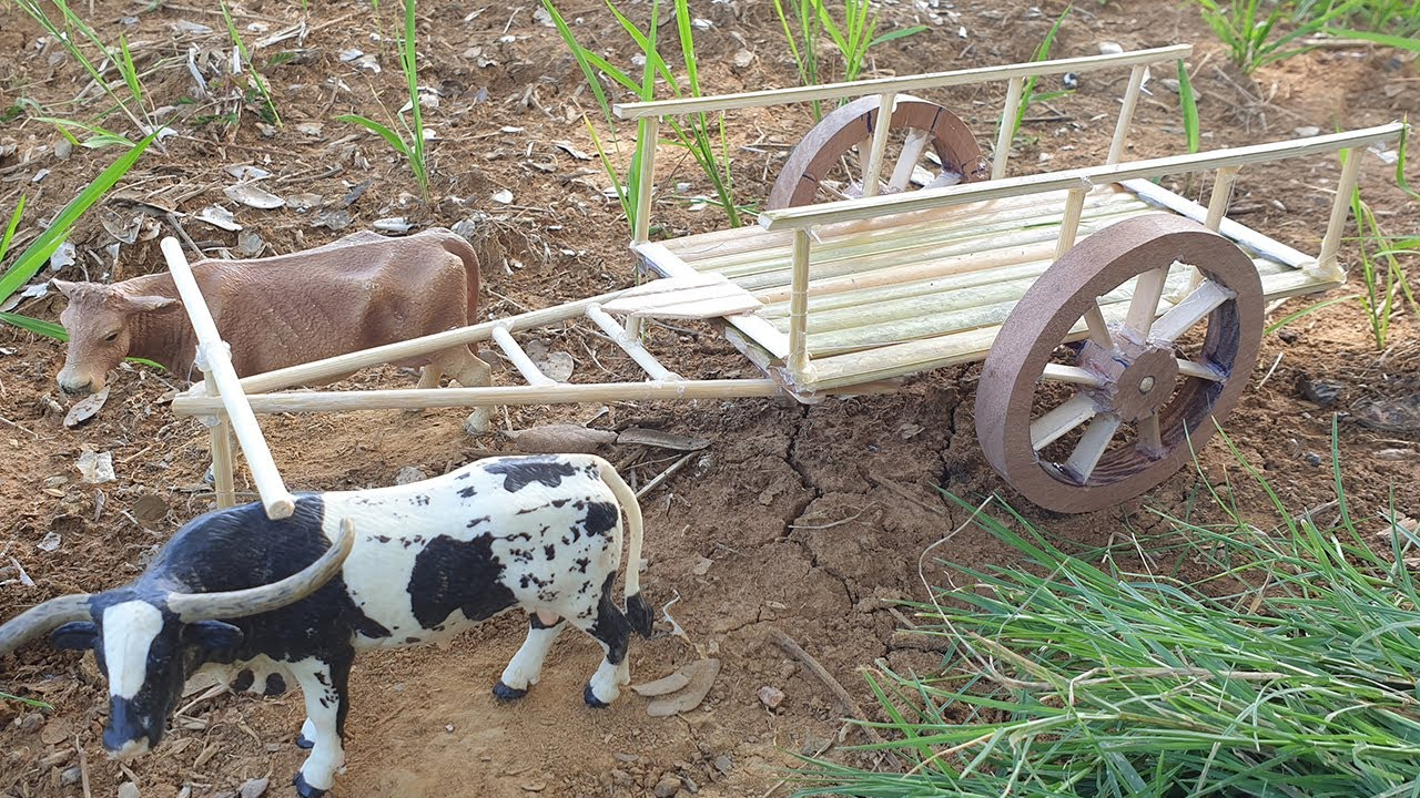 How To Make Bullock Cart - Bamboo Woodworking