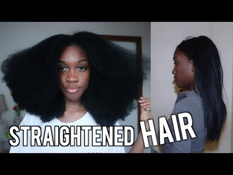 Natural Hair Straightened! (Myself)  | Angelique Brown