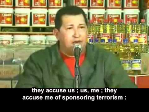 "Chavez : ""Damn you State of Israel"" (English subtitles)"