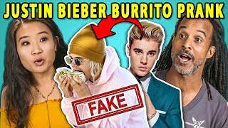 Adults React To Yes Theory: Fooled The Internet w/ Fake Justin Bieber Burrito Photo Prank
