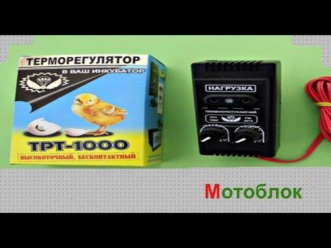 Терморегулятор для инкубатора ТРТ-1000 плавнозатухающий (с двумя регулировками)