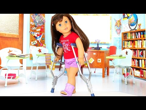 DIY Doll Crutches | How to make American Girl Doll Crafts