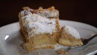 Яблочно- банановый пирог с заварным кремом.