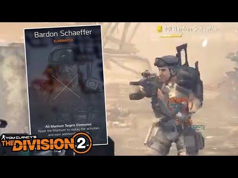 KILLING BARDON SCHAEFFER - The Division 2  