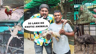 EXPLORING MOST EXPENSIVE PRIVATE ZOO FOR FIRST TIME😱😍 - Giant Lizard, Iguana, Emu, Snakes Etc.