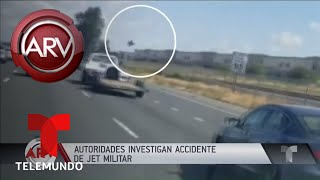 Jet militar se estrelló contra una bodega | Al Rojo Vivo | Telemundo