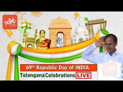 Telangana CM KCR Republic Day Celebrations 2018 LIVE | Governor Narasimhan | Parade Ground | YOYO