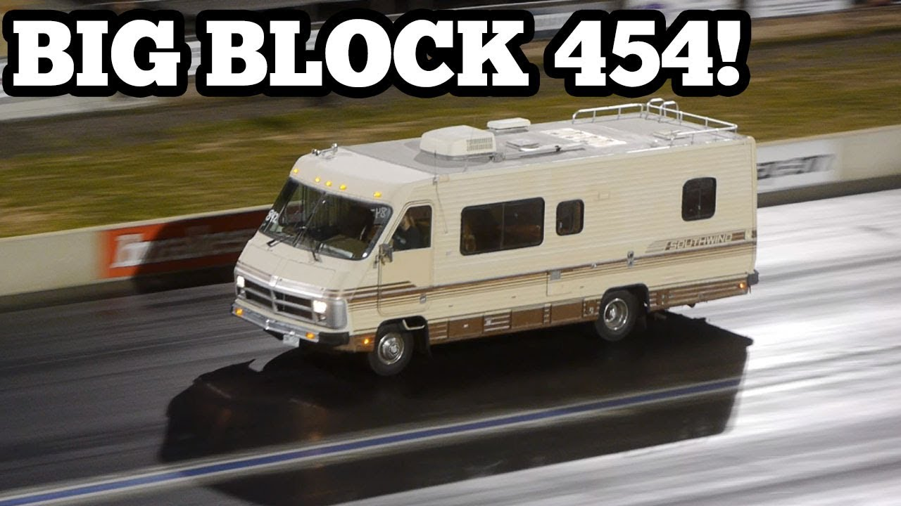 motorhome drag race big block chevy 454 quarter mile [ 1280 x 720 Pixel ]