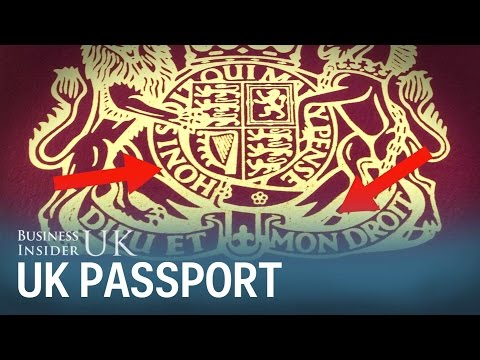 Why there is French on a British passport