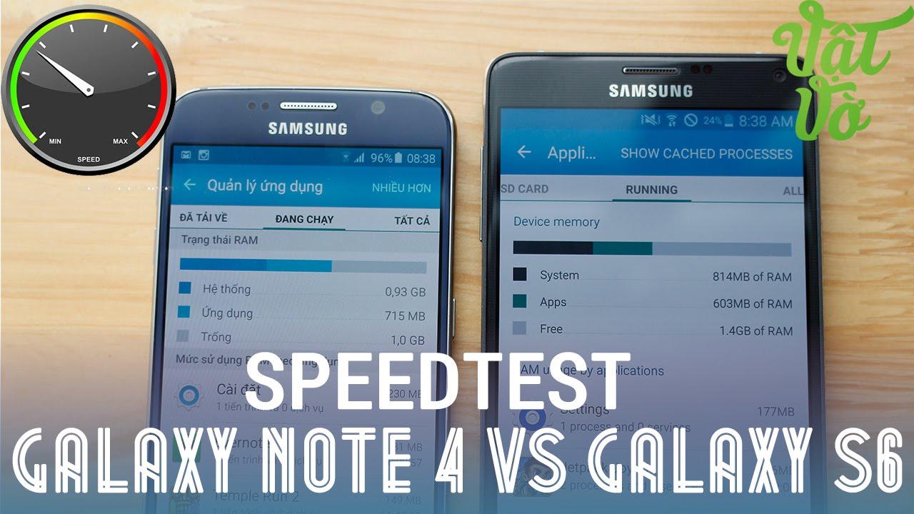 [Review dạo] Galaxy Note 4 và Galaxy S6: so sánh tốc độ, quản lí ram đa nhiệm